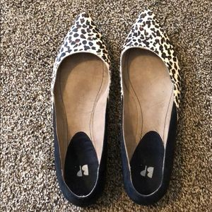 *Never worn* Size 9.5 BP Cheetah pointed flats